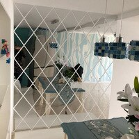 3D 거울 벽 스티커 17/32/58 개 DIY 다이아몬드 마름모 아크릴 거울 표면 벽 스티커, 거실 장식
