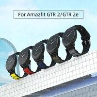 Sika 소프트 실리콘 스트랩 Amazfit GTR2 GTR 2e 22mm 범용 시계 밴드 Amazfir Gtr 47mm GTR 2 스마트 워치