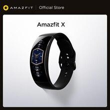 Amazfit-X 스마트워치 글로벌 버전 커브드 스크린, 티타늄 바디 수면 모니터링, 5ATM 방수 멀티 스포츠 모드