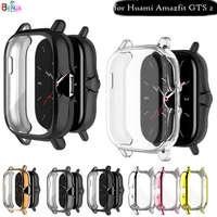 화면 보호 시계 케이스 Huami Amazfit GTS 2 / GTS 2e, 풀 프로텍터 커버 충격 방지 초박형 TPU 투명 쉘