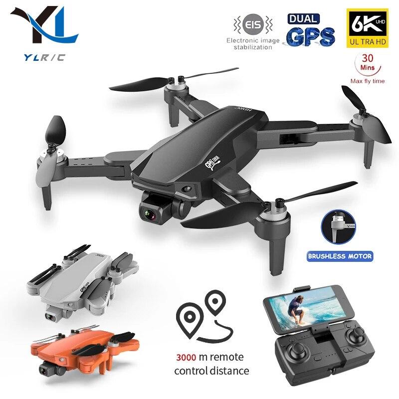 Nuevo s608 Pro Drone 6K Cámara Dual de Hd Drone fotografía aérea Rc Quadcopter Wifi Fpv Gps profesional sin escobillas Motor de helicóptero