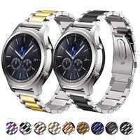 22mm 20mm 메탈 스트랩 삼성 갤럭시 워치 46mm/화웨이 워치 GT2/어메이즈핏 GTR 교체용 팔찌 스트랩, Samsung Watch 3