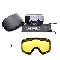 Neue Marke Professionelle Magnet Ski Snowboard Googles Doppel Anti-fog Big Nachtsicht Objektiv Maske Skifahren Brille