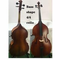 Full Size Handgemaakte 4 String Cello 4 / 4 Massief Houten Zoete Stem Contrabas Vorm Maple Terug Sparren Panel gratis Cello Tas Boog