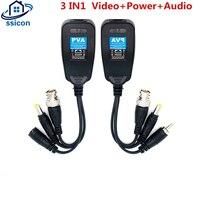 10 Pairs 5MP Video Power Balun BNC Audio zu RJ45 Stecker HD-CVI/TVI/AHD Transceiver Für CCTV Überwachung kamera System