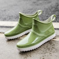comemore 2021 Non-slip Rain Boots Men Waterproof Shoes Plush Warm Shoes Non-slip Winter Boots Women Zapatos De Mujer Water Shoes
