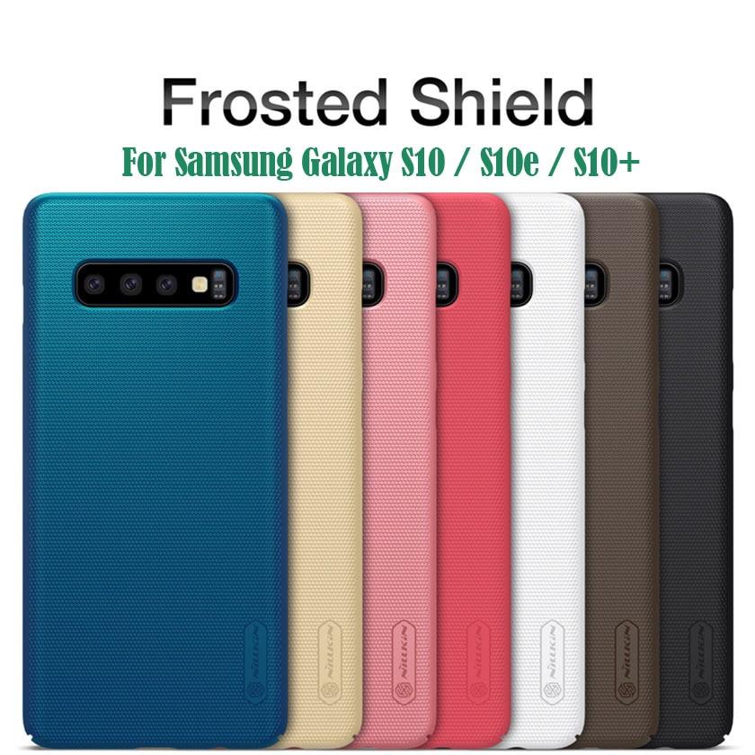 Nillkin-funda rígida para Samsung Galaxy S10 S10e S10 Plus, protector superesmerilado, soporte para teléfono, regalo