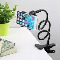 אוניברסלי טלפון בעל מיטת קליפ עצלן גמיש Gooseneck קלאמפ ארוך זרועות הר עבור iPhone אנדרואיד מיטת שולחן נייד טלפון בעל