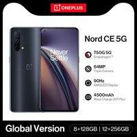 Globale Version OnePlus Nord CE 5G Snapdragon 750G SmartPhone 8G 128GB/12G 256GB warp Ladung 30T Plus 64MP Kamera Handys