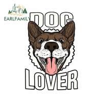 EARLFAMILY 13cm x 9cm For Dog Lover 자동차 수리 스티커 JDM SUV rv를위한 스크래치 방지 데칼 비닐 소재 방수 데칼