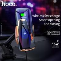 Automatische Spann Auto Drahtlose Ladegerät 15W Quick Charge für iPhone 11 Pro XR XS Huawei P30 Pro Qi Infrarot sensor Telefon Halter