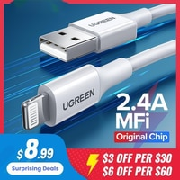 Ugreen MFi USB Kabel Für iPhone 12 Mini 2,4 EINE Schnelle Lade USB Ladegerät Datenkabel Für iPhone 12 Pro max 11 XR 8 USB Ladung Schnur