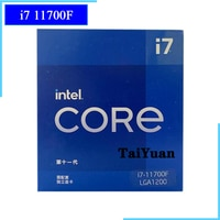Intel Core i7-11700F i7 11700F 2,5 GHz Acht-Core Sechzehn-Gewinde CPU Prozessor 16M 65W LGA 1200 benötigen H410 B560 Z590 Motherboard