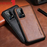 X-Niveau Leather Case Voor Huawei P40 Pro Plus P30 Originele Zachte Siliconen Rand Back Telefoon Cover Voor Huawei p40 Lite 5G Case