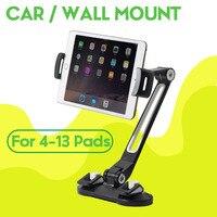 Tablet Stand מחזיק חזק יניקה גביע עבור שולחן זכוכית קיר מתכוונן הר עבור iPad פרו 12.9 אוויר Xiaomi סמסונג 4.7-12.9 אינץ
