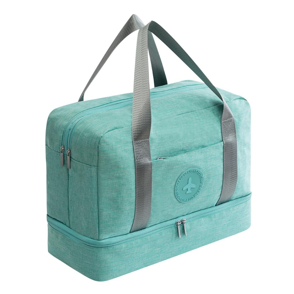 Reise Veranstalter Tasche Große Kapazität Gepäck Tasche Schule Mann Frauen Reise Tragen auf Gepäck Trocken Nass Trennung Lagerung Tasche Bolsas