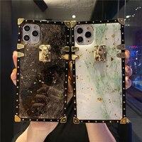 大理石と金箔を備えた大理石の電話ケース,iPhone 12 pro max mini 11 pro xs max xr 7 8 plus用の柔らかく光沢のあるケース