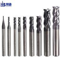 HRC45 פלדת כרסום קאטר 1 2 3 4 5 6 8 10 מוצק קרביד קצה מילס CNC חיתוך כרסום כלים סגסוגת טונגסטן כבוד בום