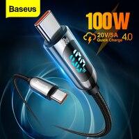 Baseus PD 100W USB C Zu USB Typ C Kabel Schnelle Lade Ladegerät Draht Schnur USB-C Typ-C USBC Kabel Für Xiaomi POCO X3 Pro Samsung