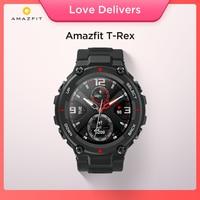 Amazfit-T rex 스마트 워치, 2020 년 신제품, 안드로이드용 배터리 수명 5ATM, GPS, GLONASS 20 일 사용 가능, 음악 제어, 년 출시