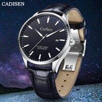 CADISEN 2021 Men Watch Automatic Mechanical Waterproof 100m Luxury Sapphire Crystal Miyota Movement Genuine Leather Wrist Watch