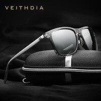 VEITHDIA 브랜드 선글라스 Unisex Retro Aluminum + TR90 선글라스 Polarized Lens 빈티지 안경 Sun Glasses For Men/Women 6108