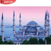 HUACAN מלא כיכר 5D DIY יהלומי ציור מסגד יהלומי רקמת דת יהלומי פסיפס סט תמונה של Rhinestones בעבודת יד