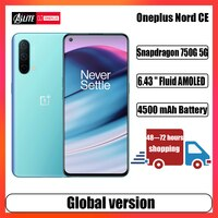 Globale Version Oneplus Nord CE 5G Handy Snapdragon 750G 8GB 128GB 90Hz AMOLED Bildschirm Warp ladung 30T Plus 4500mAh Smartphone