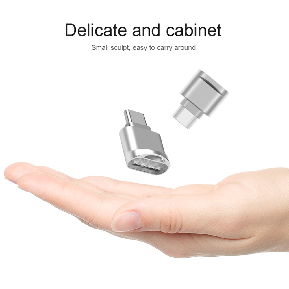 KEBIDU USB tipo C USB 3,1 Micro SD TF lector de tarjetas OTG adaptador para Samsung Galaxy S8 Mini lector de tarjeta de memoria de tipo C Micro SD TF
