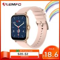 LEMFO Y20 P8 플러스 2021 여자 1.7 인치 풀 터치 IP67 방수 피트니스 추적기 남자 Smartwatch 사용자 정의 다이얼 GTS 2