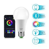 Intelligente Birne LED Lampe Drahtlose Bluetooth 4,0 E27 110V 220V Hause Beleuchtung RGBW RGBWW Magie Neon Lampe Dimmer kompatibel IOS /Android