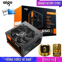 Aigo fonte Bewertet 650W Netzteil 80plus NETZTEIL PFC Silent Lüfter ATX 24pin 12V PC Computer SATA gaming PC Netzteil Für Intel AMD
