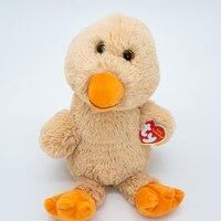 15CM Ty Cute Plush Animal Doll Debby The Brown Duck Big Glitter Eyes Birthday Christmas Gift Children's Toy