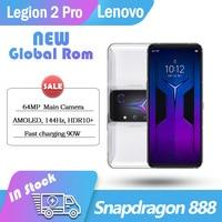 Neue original Globale Rom Lenovo Legion 2 Pro 5G Gaming Telefon 6.92 ''140Hz AMOLED E4 Bildschirm 5500mAh Snapdragon 888 NFC 18GB 512GB