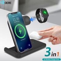 20W Qi Drahtlose Ladestation für iPhone 12 11 XS XR X 8 3 in 1 Schnelle Lade Dock station Für Apple Uhr 6 5 4 3 2 AirPods Pro