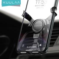 KUULAA הכבידה רכב מחזיק עבור טלפון נייד ברכב סטנד אוניברסלי אוויר Vent קליפ הר תמיכה לא מגנטי טלפון סלולרי מחזיק