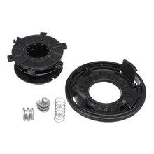 Capa de carretel de cabeça de aparador preta, substituição para autocut 25-2 substituições modelos 2009-2011-4002, conjunto de cabeça de aparador + capa + mola + ilhões