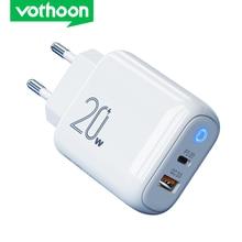 Vothoon 20W Quick Charge 3,0 USB Typ C QC PD USB Ladegerät Tragbare Schnelle Ladegerät Für iPhone 12 Mini XS 8 Samsung Typ C Ladegerät