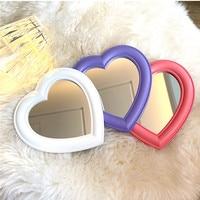 HE15 웹 연예인 화장품 거울 장식 거울 소녀 심장 학생 기숙사 거울 휴대용 홈 소형 소형 거울
