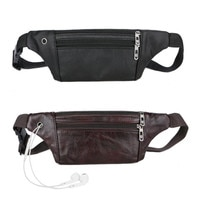 Creative New Genuine Leather Men Belt Pouch Fanny Pack Waist Purse Clutch Bag Cashier Leather Men's Pockets Pure Leather Cashier