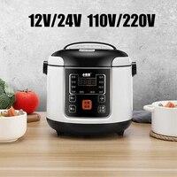 12V/24V 전기 밥솥 Muiticooker 자동차 트럭 요리 냄비 난방 도시락 음식 기선 식사 히터 따뜻한 2L 110V/220V