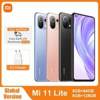 Globale Version Xiaomi Mi 11 Lite NFC 64GB/128GB Smartphone Snapdragon 732G Octa Core 64MP Hinten kamera 4520mAh Mi 11 Lite Telefon