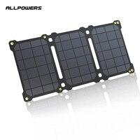 ALLPOWERS פנל סולארי 5V 21W USB נייד טלפון כוח בנק מטען חיצוני נייד מתקפל שמש תאי סוללה חבילה