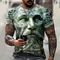 New Style Hot Sale In 2021, 3D Men's T-Shirt, Gentleman Style Design, Short Sleeves, Summer Fashion, Handsome Man