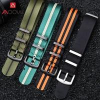 20mm 22mm 나토 나일론 스트랩 Watchband 304L 스테인레스 스틸 버클 품질 캔버스 남성 교체 팔찌 밴드 시계 액세서리