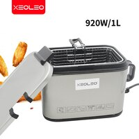 XEOLEO-전기 프라이어 상업용 딥 프라이어 프렌치 머신, 스테인레스 스틸 감자/츄러스/치킨 튀김 기계 2L 920W