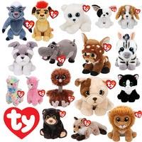 Ty Big Eyed Cat Dog Panda Tiger Penguin Monkey Leopard Lion Raccoon Plush Kids Stuffed Animal Soft Toys Birthday Gift 15CM/25CM