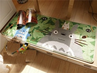 Japan TOTORO Ultra-fine Coral Velvet Carpet Bed Cushion Window Cushion 50*120CM Tick 1.2cm Baby Play Mats Carpet