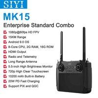 15KM 1080P SIYI MK15 Mini Handheld Radio System Sender Fernbedienung 5,5-Zoll HB Bildschirm FPV Android OS 2G RAM 16G ROM