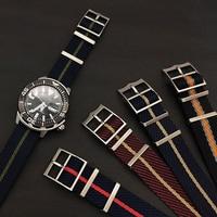 고급 나일론 소재 교체용 브레이드 나일론 나토 시계 밴드, 튜더용 조절 가능한 나일론 스트랩
